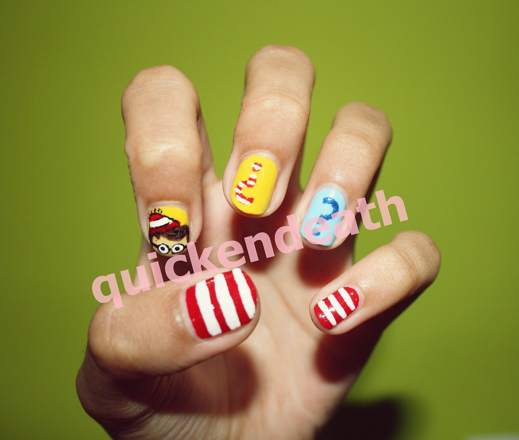 Wheres Wally Nail Art I Twitterquickendeath Fac Flickr