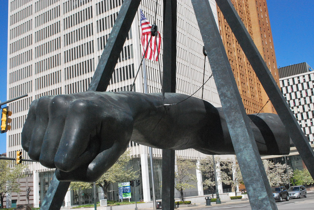 Image result for joe louis fist sculpture