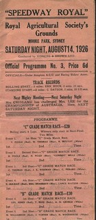 Speedway Royale No 3 Programme...Sydney 1926. | by georgedulcot