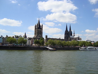 Cologne Altstadt from the river | by Sophie F Cummings