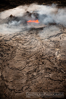 Kilauea Crater and Lava Flow | by DaveWilsonPhotography