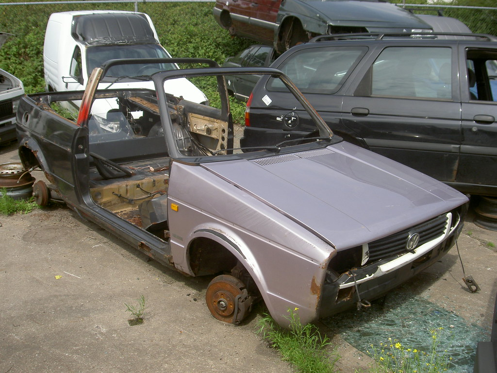vw golf 1 cabrio 1986 junkyard de mars zwolle nl 2009 flickr. Black Bedroom Furniture Sets. Home Design Ideas