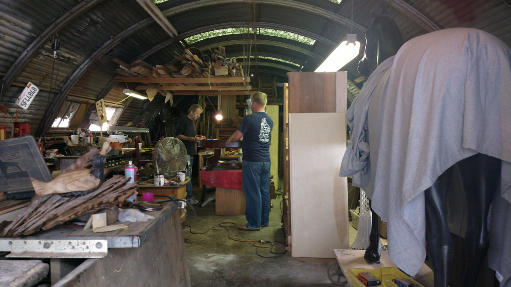 Flatbed Tow Truck >> At Ken Whitney's wood shop, aka Ken's Quonset Hut of Woode ...