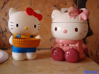 Hello Kitty basket of canky and Hello Kitty Christmas cookie jar | by HKTESSA