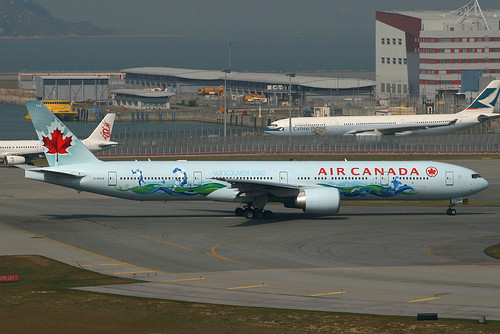 Air Canada (AC-ACA) / 777-333ER / C-FIVS / Vancouve 2010 Winter Olympics / 12-21-2009 / HKG | by Mohit Purswani