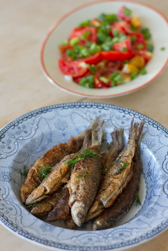 Praetud rääbised / Pan-fried vendace and tomato salad /  Coregonus albula | by Pille - Nami-nami