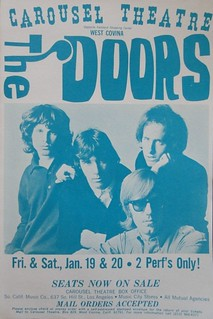 The Doors concert poster - Carousel Theater, West Covina | by A Box of Pictures