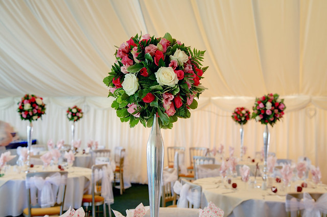 Wedding Flowers For Venue : Wedding flowers venue table decoration flickr photo