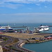Ferries at & approaching Dover, UK, with Spirit of Britain & Delft Seaways at berth - 21 August 2012 [photo © WCK-JST]