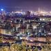 Genoa, Italy - Panoramic HDR at night - Genova