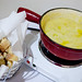 Big pot of delicious fondue