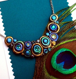 New Peacock Bubbles Necklace | by MandarinMoon
