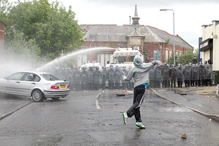 Rioter Hurls Rocks at PSNI | by metroblossom