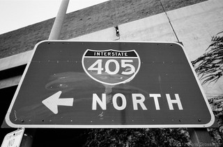 Interstate 405 North On-Ramp Sign - Culver City - Nikon FE - Nikkor 28mm F/2.8 AI - TMAX 100 | by divewizard