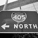 Interstate 405 North On-Ramp Sign - Culver City - Nikon FE - Nikkor 28mm F/2.8 AI - TMAX 100