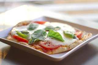Margherita Pizza on Naan bread | by Cordey