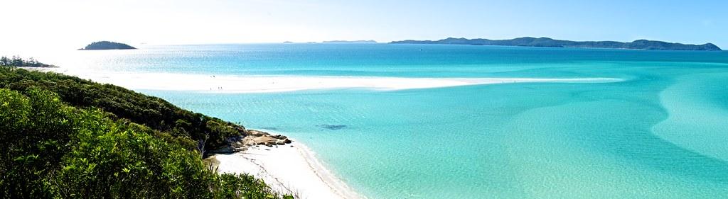 A slender beach