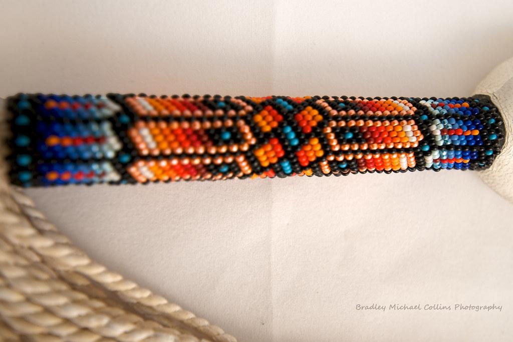 Beaded Handle Ceremonial Peyote Fan Handmade By