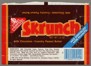 Sunmark - Willy Wonka's - Skrunch - candy bar wrapper - 1981 | by JasonLiebig
