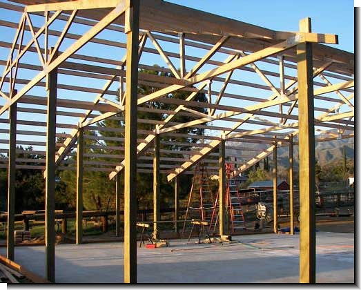 How to build pole barn 4 if walls are to be installed for How to frame a pole barn house