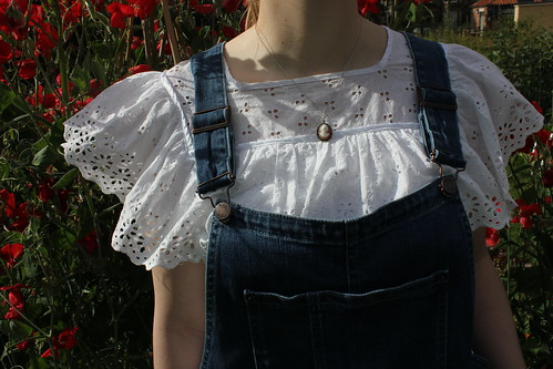 Vintage Broderie Anglaise and Boden Dungarees