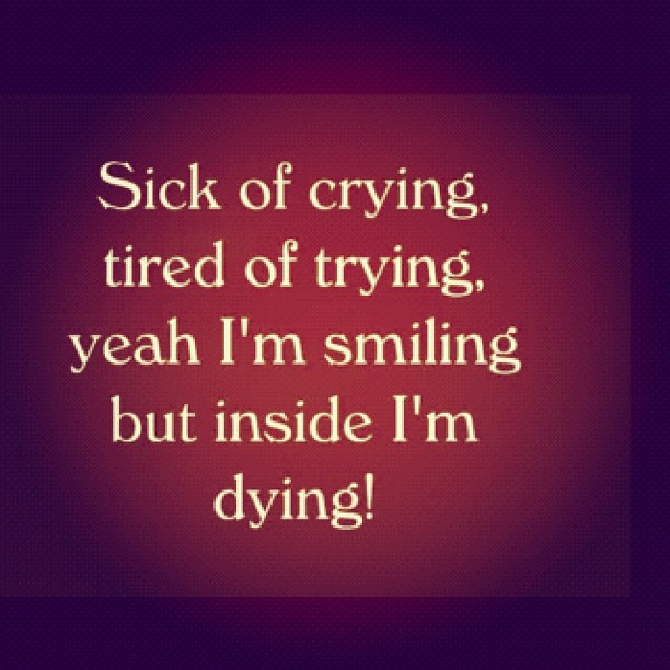 I'm #dying inside #love #hurt #instamood #quote | Hân ...  I'm #dying ...
