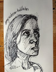 Ink Drawing of Amy Huddleston by .jean-pierre