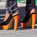 Orange High Heels