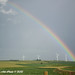 Rainbow over MidAmerican Energy's Walnut Wind Park, located in Iowa.