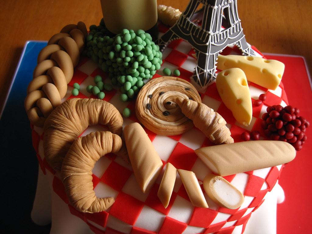 French Themed Birthday Cake French Themed Birthday