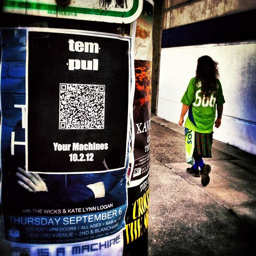 Marching to the 'Tempul' #Snapseed #seattle #sounders #PoleArt #OdeToHamby | by Paul T. Marsh/PositivePaul