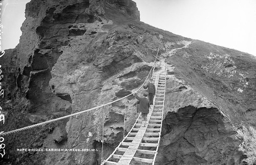 Carrick-A-Rede Rope Bridge, Co. Antrim | by National Library of Ireland on The Commons