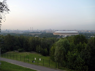 Vorobyovy Gory Nature Preserve and the Grand Sports Arena of the Luzhniki Olympic Complex, Moscow | by e_chaya
