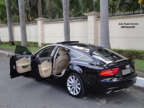 Audi A7 Sportback Preto Com Interior Caramelo Fica Sem