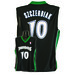 7003W-316 MINNESOTA TIMBERWOLVES WOMENS NBA REPLICA JERSEY SZCZERBIAK #10 BLACK/GREEN