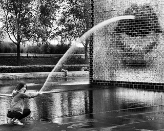 Crown Fountain, Chicago ~ Explore #400, September 21, 2012 | by Neilheeney