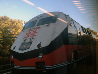 Picture Of A Metro North New Haven Line Diesel Engine Photographed From A Moving Metro North Train. Photo taken Tuesday September 11, 2012 | by ses7