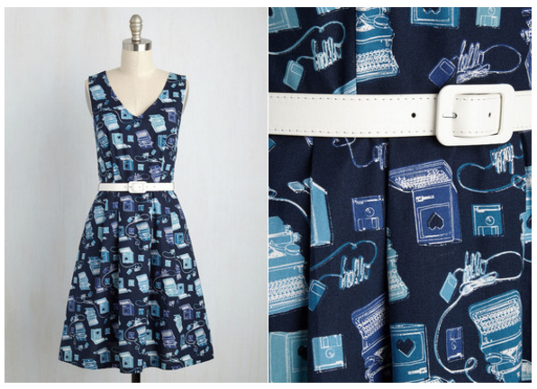 modcloth novelty dress