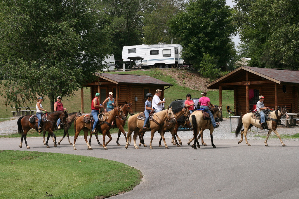Wranglers Campground provides amenities for people camping with their horses.