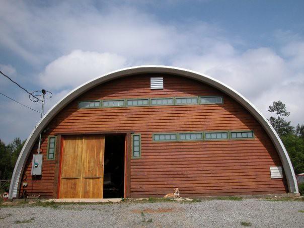 Steel quonset wood sorkshop SteelMaster Buildings Flickr