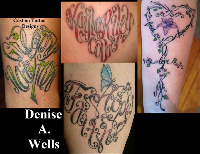 Heart Shaped Tattoos With Words Denise a. wells tattoo designs