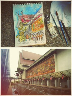 KL Urban Sketchers Outing 11 Aug 2012 (1) | by Liyin Yeo of Liyin Creative Studio