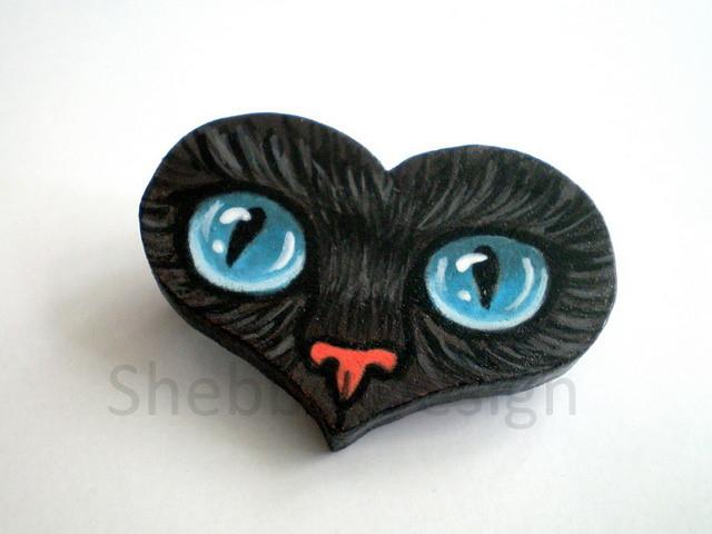 B602 Siyah Kedi Mavi Goz Bros1 El Boyamasi Hand Painted Flickr