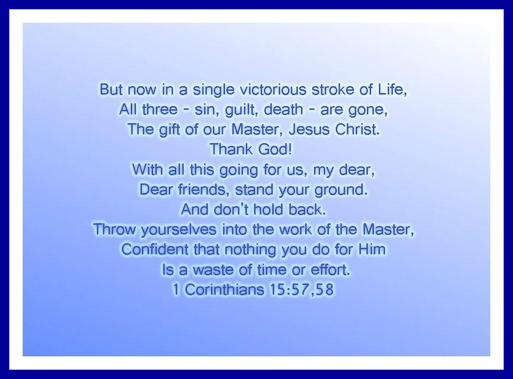 1 Corinthians 155758  The Bible App  Biblecom
