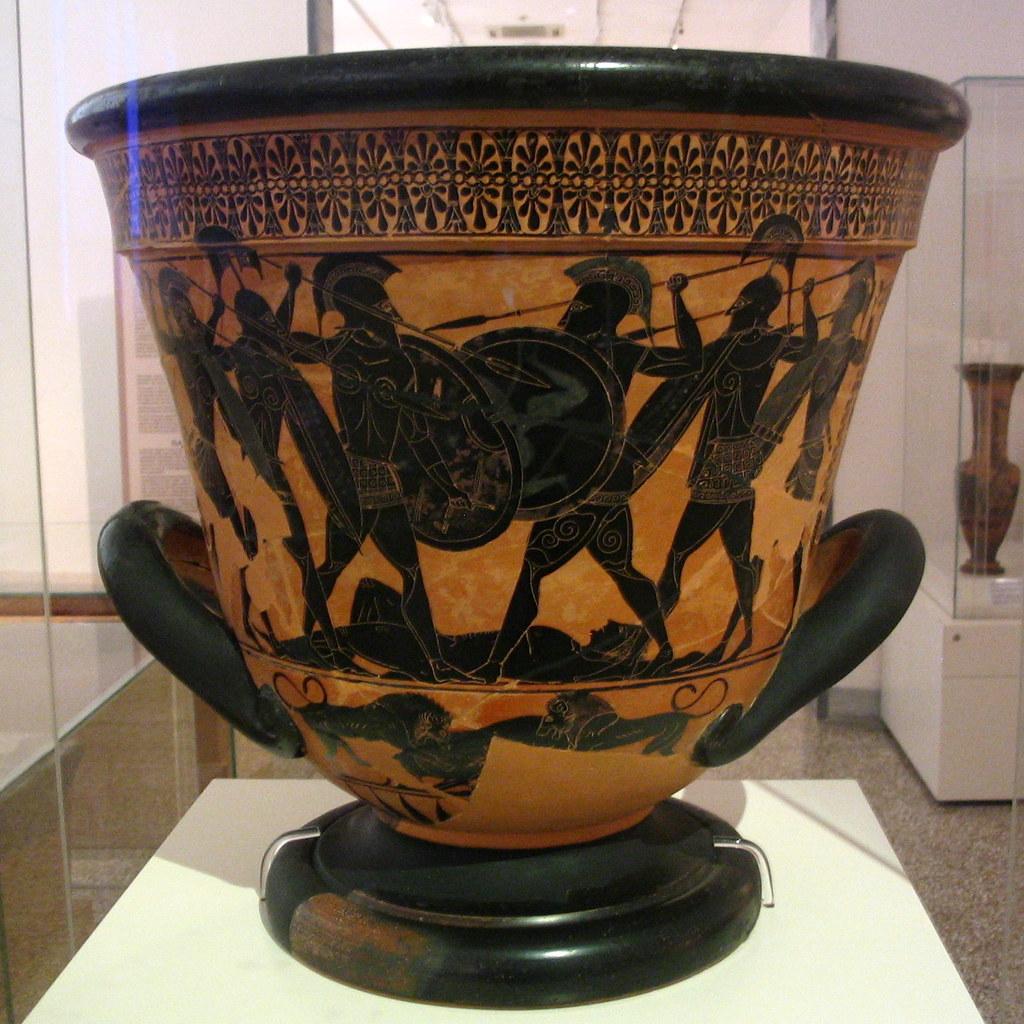 Athenian Black Figure Calyx Krater