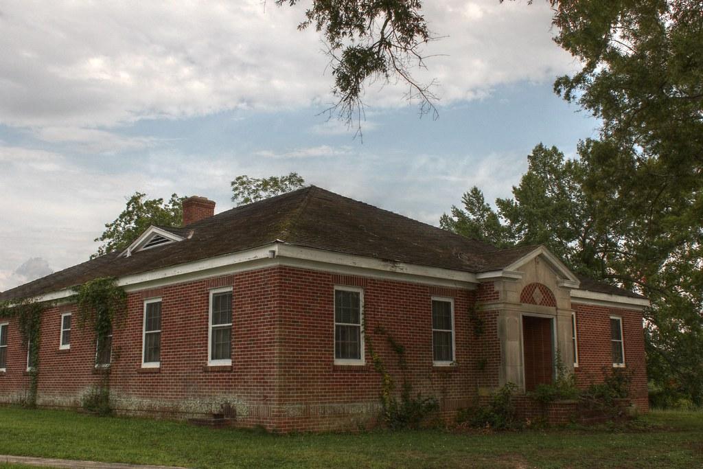 Front Of Abandoned Building Grendel Mill Village Greenwo