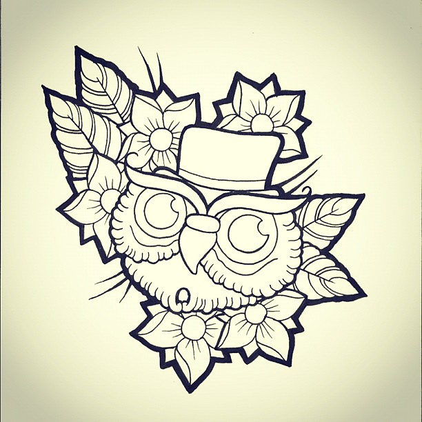 tattoo #tattooflash #flash #flashart #art #owl #owltattoo… | Flickr