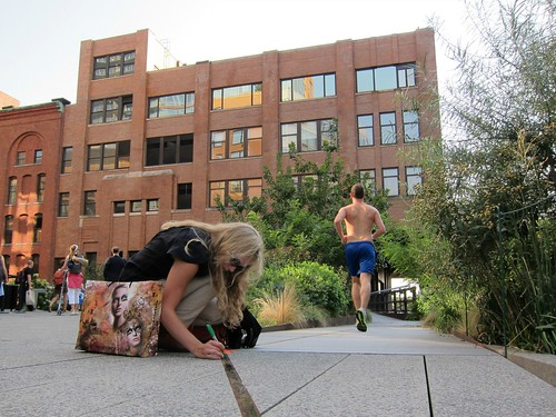 Jennifer West: One Mile Parkour Film, on the High Line | by Scoboco