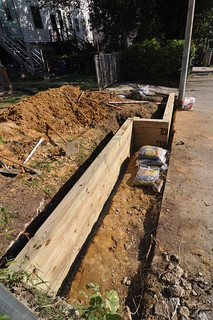Retaining wall timbers laid south | by whiteknuckled