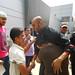 Mohammad Fanouna es recibido por una multitud orgullosa. Crédito: Eva Bartlett